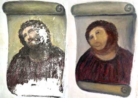Botched Restoration of Ecce Homo Fresco Shocks Spain - NYTimes.com