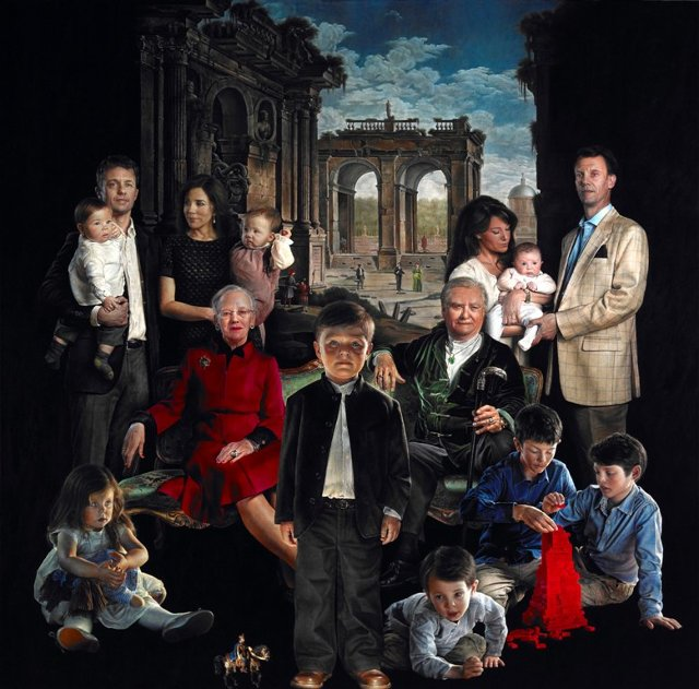 This Painting Of The Danish Royal Family Will Steal Your Soul   Co.Design   business + design