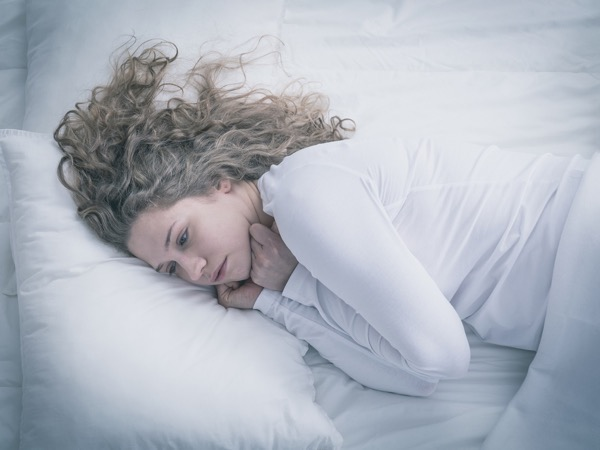 Sleep sad depressed Woman large bigstock