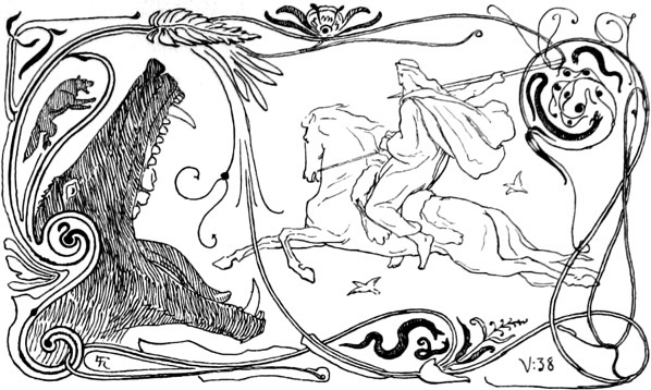 Fenrir and Odin by Frølich